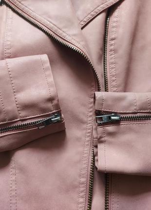 Байкерская куртка-косуха из исскуственной кожи only ava8 фото