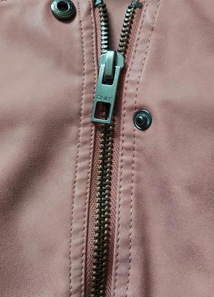 Байкерская куртка-косуха из исскуственной кожи only ava9 фото