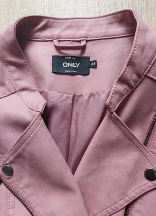 Байкерская куртка-косуха из исскуственной кожи only ava10 фото