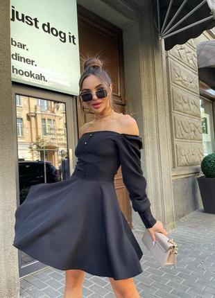 Прекрасное чёрное платье с пуговичками9 фото