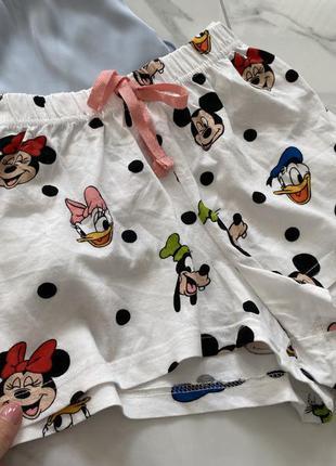 Хлопковые пижамные шорты disney
