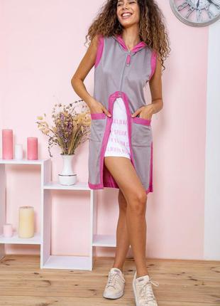 Туника - двойка цвет серо-розовый3 фото