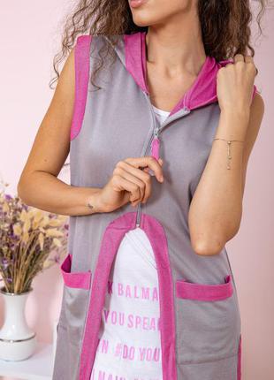 Туника - двойка цвет серо-розовый6 фото