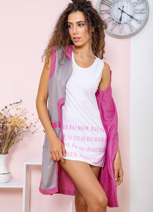 Туника - двойка цвет серо-розовый4 фото