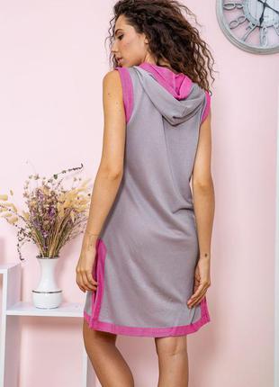 Туника - двойка цвет серо-розовый5 фото