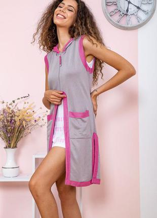 Туника - двойка цвет серо-розовый2 фото