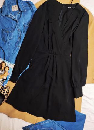 Boohoo платье чёрное миди большое батальное батал с длинным рукавом свободное3 фото