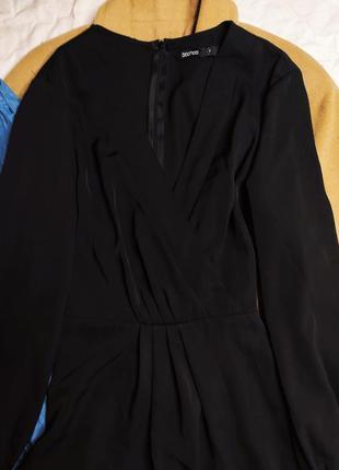 Boohoo платье чёрное миди большое батальное батал с длинным рукавом свободное4 фото