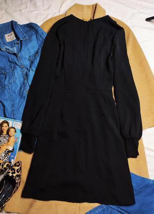 Boohoo платье чёрное миди большое батальное батал с длинным рукавом свободное5 фото