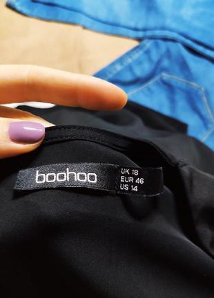 Boohoo платье чёрное миди большое батальное батал с длинным рукавом свободное7 фото