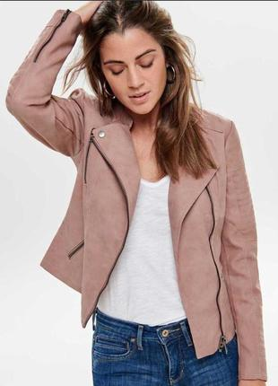 Байкерская куртка-косуха из исскуственной кожи only ava1 фото