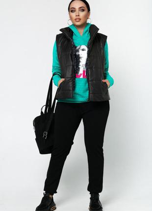 Спортивный костюм 3-ка женский  46-601 фото