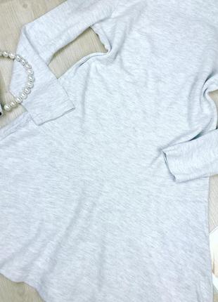 Светло серое платье в мелкий рубчик а силуэта2 фото