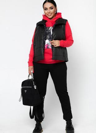 Спортивный костюм 3-ка женский  46-607 фото