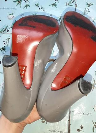 🌿1+1=3 стильные серые женские туфли на каблуке faith connexion в стиле 80-х, размер 386 фото