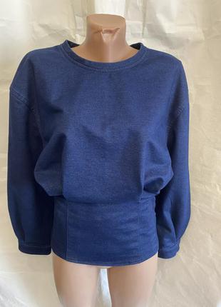 Плотная джинсовая кофта, блузка