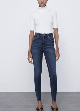 Синие скинни ,джинсы узкие  zara размер xxs,xs