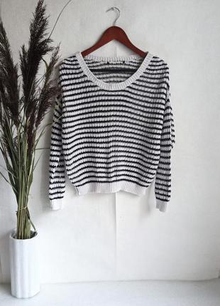 ✨легенький, короткий  светр , сітка ✨1 фото