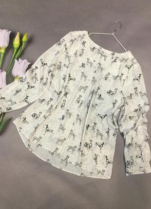 Блуза с собачками