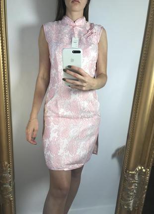 Розовое платье в японском стиле / азиатское платье