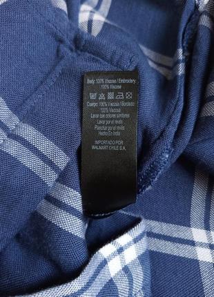 ✨неймовірна , натуральна рубашка в клітинку ,із вишивкою . віскоза , вискоза , вышивка ✨7 фото