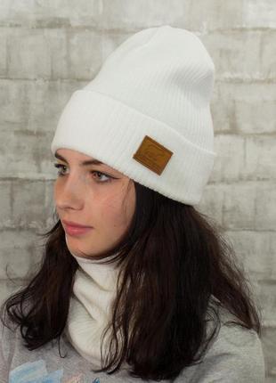 Теплі в'язані комплекти - шапка + хомут/снуд/бафф