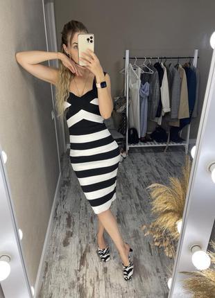 Бандажное платье new look