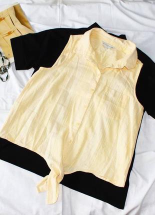 Майка с завязками f&f рубашка без рукавов