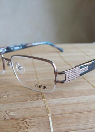 Фирменная полуободковая оправа под линзы,очки оригинал gf.ferre gf34304 новая