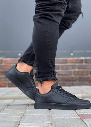 Мужские стильные кеды черного цвета на каждый день