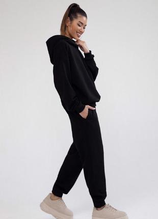 Женский спортивный костюм теплый на флисе черный, беж, бордо 42-44, 44-46