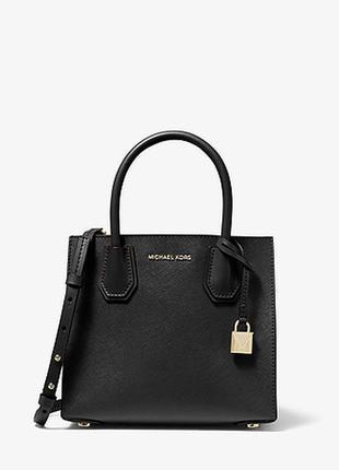 Классическая черная вместительная сумочка от michael kors