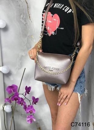 Маленький клатч маленька сумка сумочка через плечо плече с длинным ремешком цепочкой эко кожаный еко шкіряний