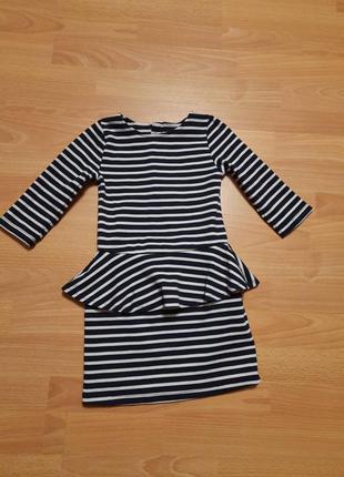 H&m красивое платье для девочки сукня плаття в полоску полосатое