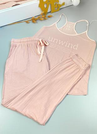Новая аутлет розовая пижама комплект для дома одежда для дома как zara hm primark george