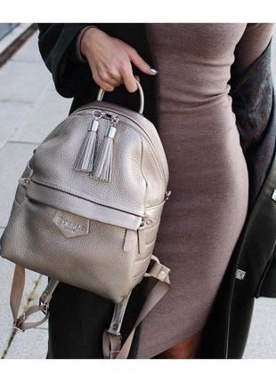 Рюкзак портфель кожаный вместительный