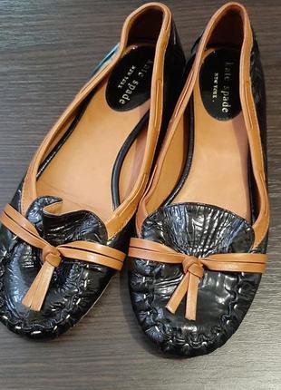 Туфли, мокасины, лоферы, лаковая кожа kate spade new york