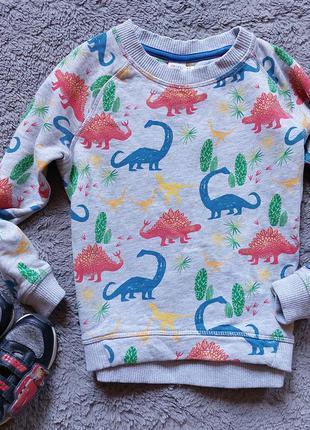 Свитшот в динозавры для мальчика