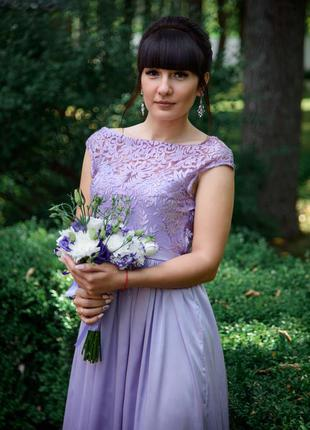 Платье вечернее лиловое