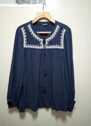 Вышитая  блуза батал 24 р. 100%вискоза (4)