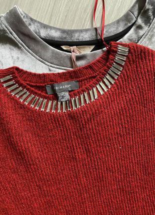 Тёплый красный свитер asos
