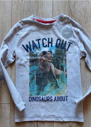 Реглан с динозавром для мальчика