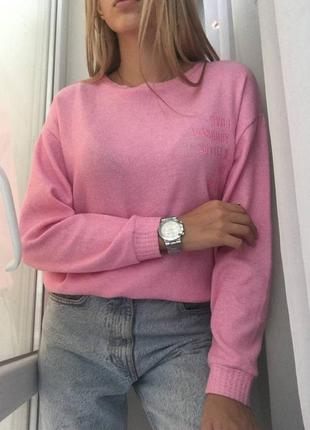 Розовый мягкий свитер с вискозой