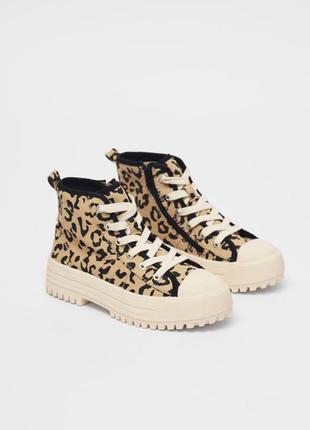 Ботинки из текстиля zara