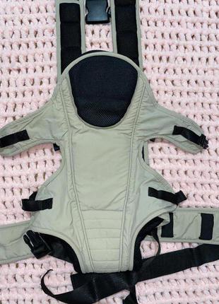 Детский кенгуру эрго рюкзак переноска слинг хипсит бежевый чёрный