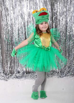 Детский маскарадный костюм лягушка лягушонок для девочки 4-8 лет