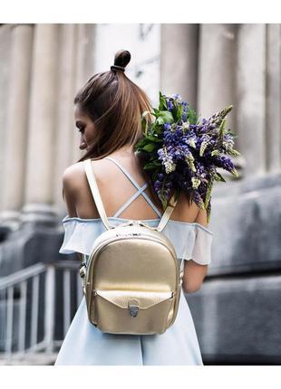 Рюкзак сумка портфель из натуральной кожи /цвет на выбор с палитры