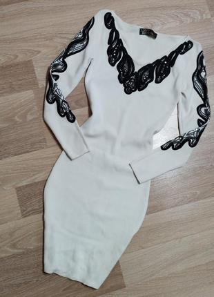 Акция 1+1=3🤩🤑 облегающее безумно красивое платье с вышивкой узором по фигуре