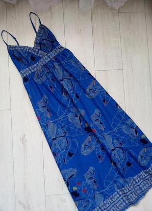 Летнее макси платье принт бабочки