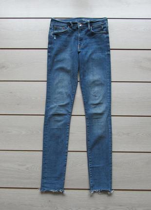 Зауженные джинсы с необработанными краями от h&m